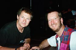 Eric with Andrew J. Robinson (Garak), May 1995