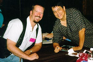 Eric with Robert Beltran (Commander Chakotay), September 1997