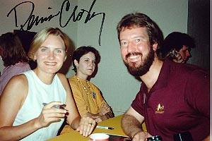 Eric with Denise Crosby (Lt. Tasha Yar), 1990