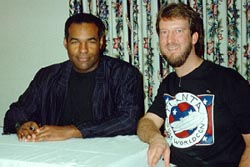 Eric with Michael Dorn (Worf), 1992