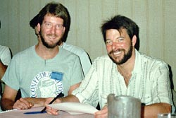 Eric with Jonathan Frakes (Commander William T. Riker), 1988