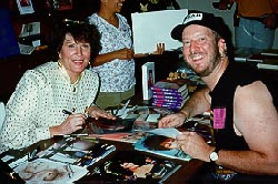 Eric with Majel Barrett Roddenberry (Nurse Chapel, Lwaxana Troi), May 1995