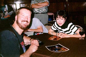 Eric with Nana Visitor (Kira Nureys), 1997