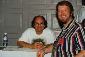 Eric with Ethan Phillips (Neelix), 1998