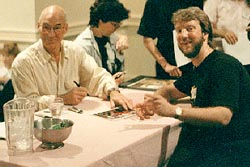 Eric with Patrick Stewart (Captain Jean-Luc Picard), October 1993