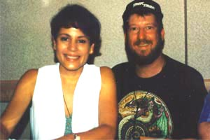 Eric with Roxanne Dawson (Lt. B'Elanna Torres), May 1996