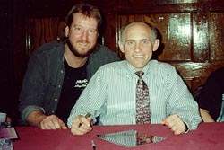 Eric with Armin Shimerman (Quark), March 1994
