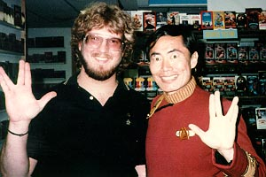 Eric with George Takei (Sulu), 1984